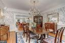 Dining Room - 8702 OLD DOMINION DR, MCLEAN