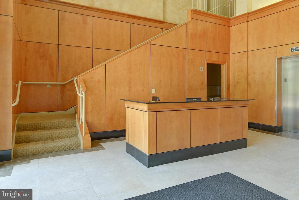 Concierge desk in lobby - 4750 41ST ST NW #502, WASHINGTON