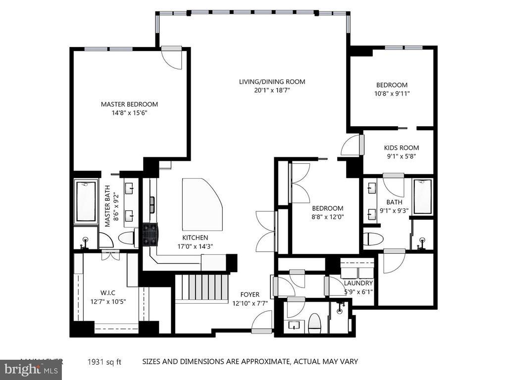 Floor Plan - Main Floor - 4301 MILITARY RD NW #PH8, WASHINGTON