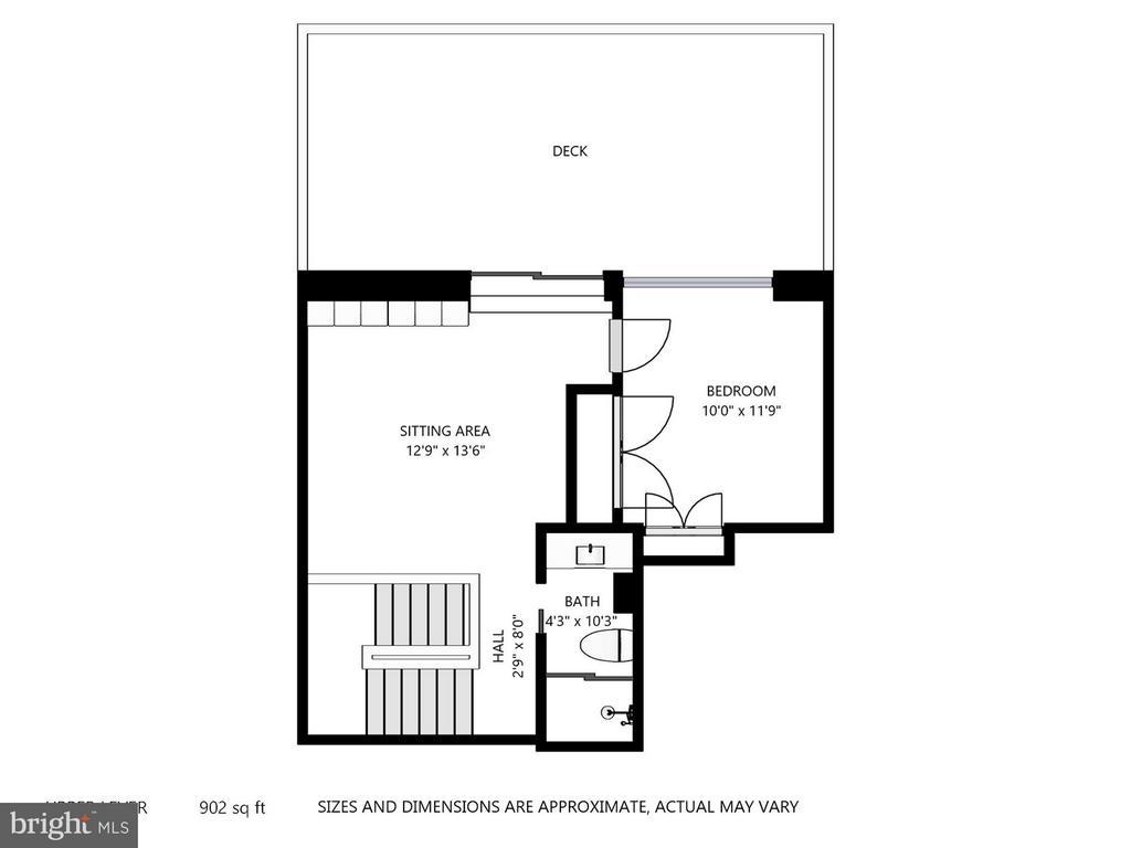 Floor Plan - Top Floor - 4301 MILITARY RD NW #PH8, WASHINGTON