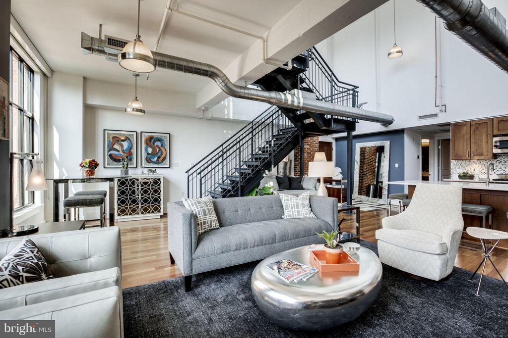Living Room - 1600 CLARENDON BLVD #W413, ARLINGTON