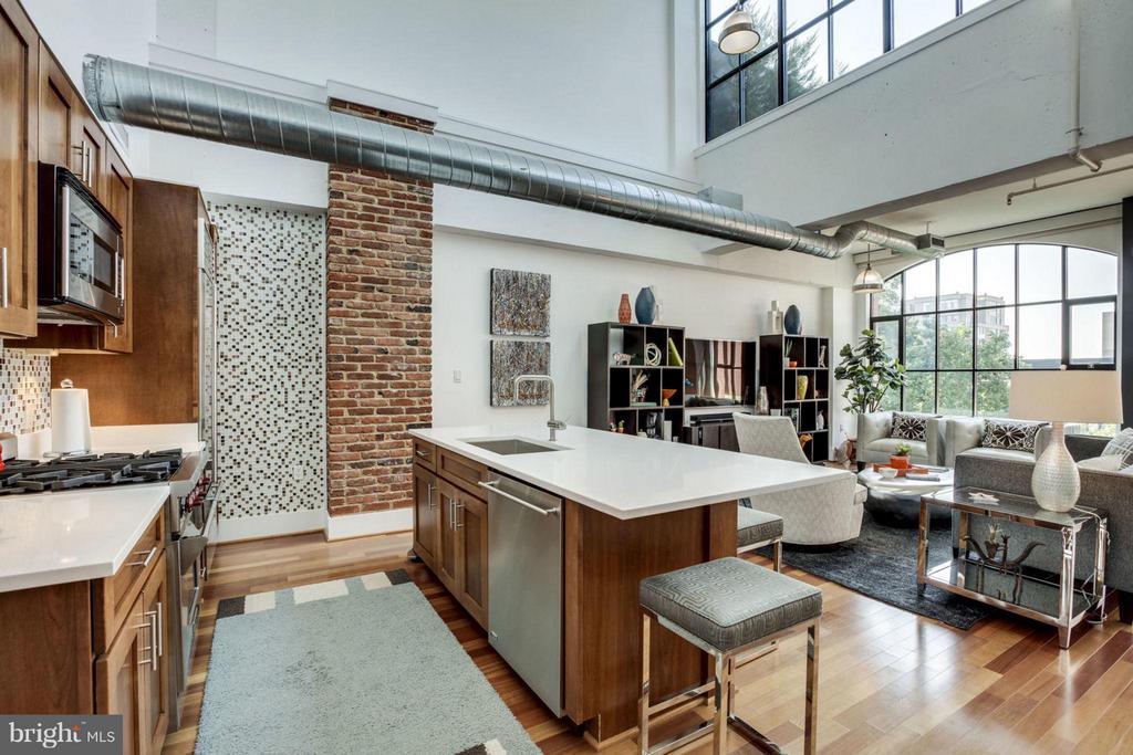 Gourmet kitchen with Silestone countertops - 1600 CLARENDON BLVD #W413, ARLINGTON