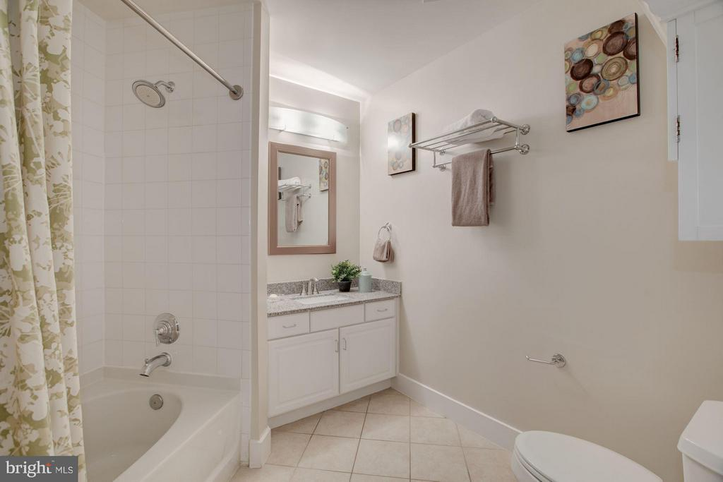 Master Bath with new granite vanity top - 1200 HARTFORD ST N #112, ARLINGTON