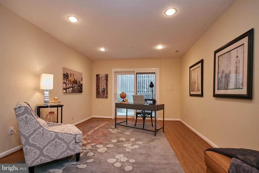 Recreation Room with New Flooring - 9938 GREAT OAKS WAY, FAIRFAX