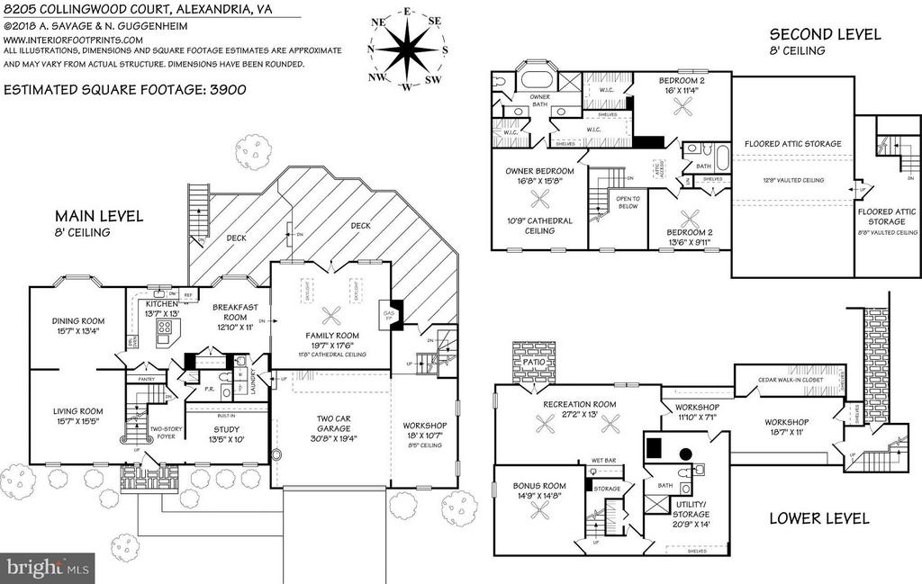 Floor Plan - 8205 COLLINGWOOD CT, ALEXANDRIA