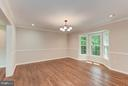 Dining Room ft. Bay Windows w Greenery Views - 8205 COLLINGWOOD CT, ALEXANDRIA