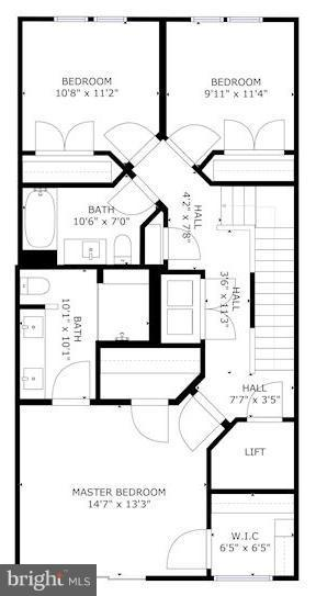Floorplan of upper level - 171 WINSOME CIR, BETHESDA