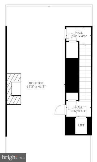 Floorplan of terrace - 171 WINSOME CIR, BETHESDA