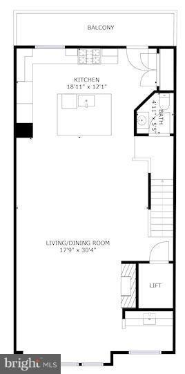Floorplan of main level - 171 WINSOME CIR, BETHESDA