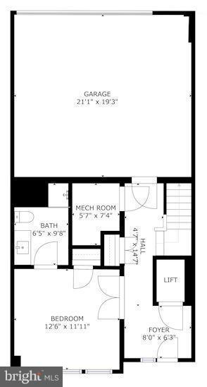 Floorplan of lower level - 171 WINSOME CIR, BETHESDA