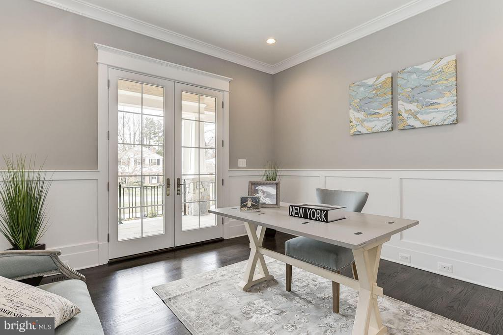 Private Home Office with French Doors - 11201 STEPHALEE LN, ROCKVILLE