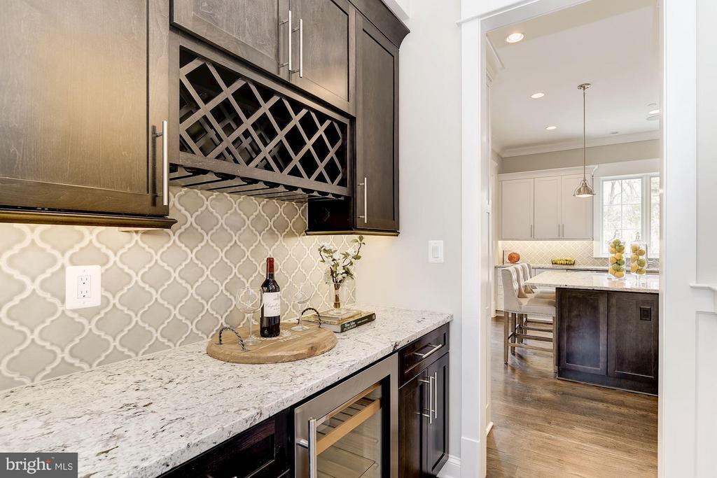 Butler's Pantry With Beverage Refrigerator - 11201 STEPHALEE LN, ROCKVILLE