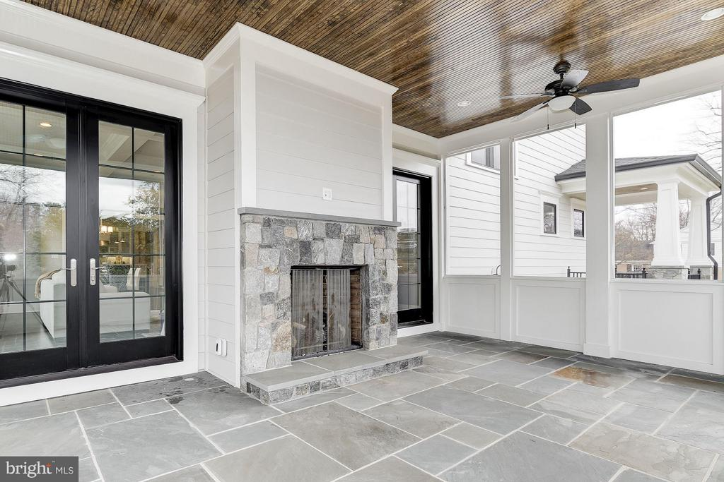 Screened Porch with Stone Fireplace - 11201 STEPHALEE LN, ROCKVILLE