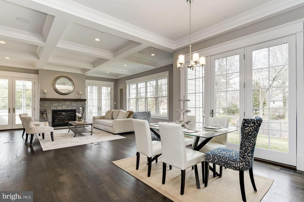Family Room with Coffered Ceiling - 11201 STEPHALEE LN, ROCKVILLE