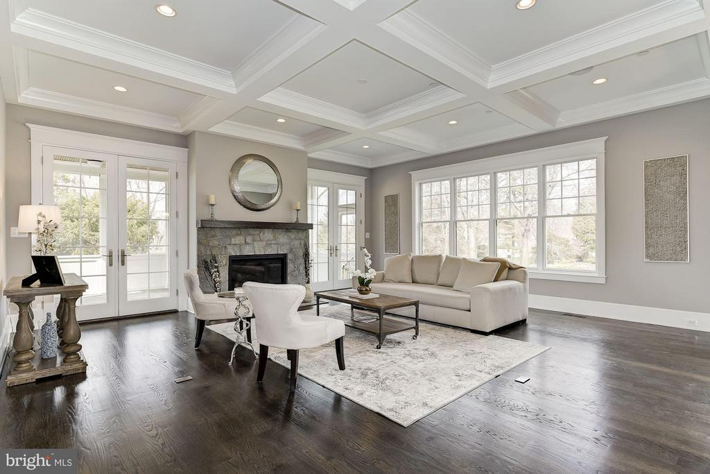 Family Room Features Gas Fireplace - 11201 STEPHALEE LN, ROCKVILLE