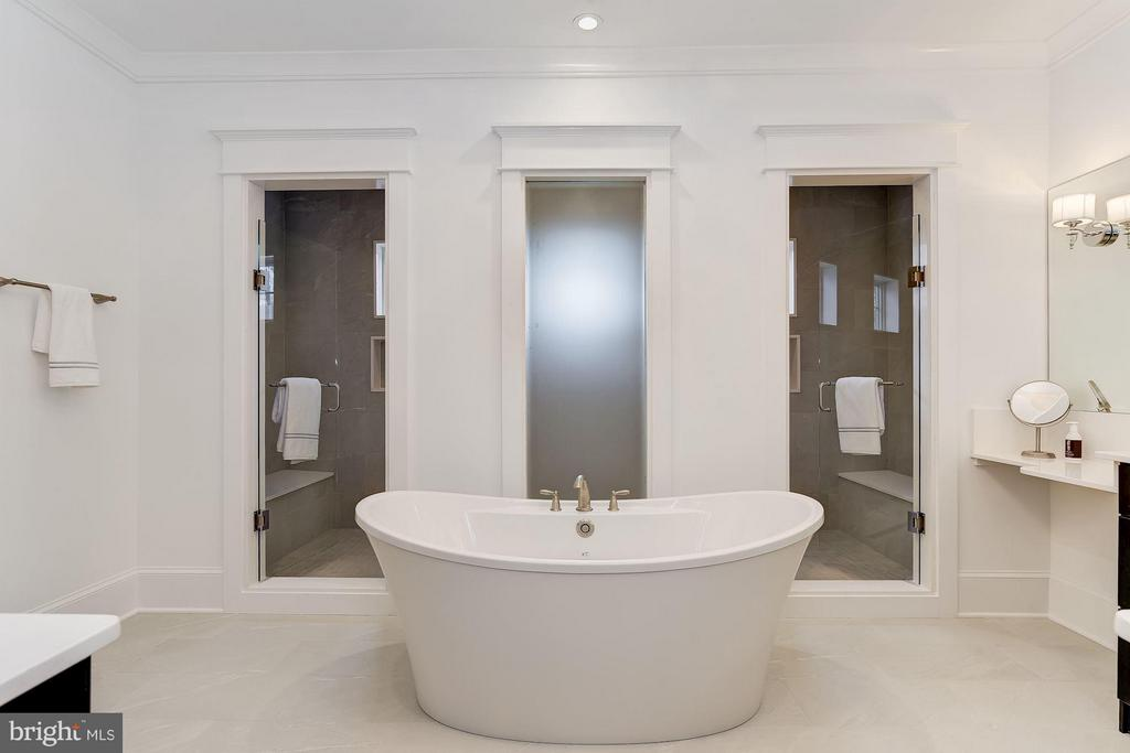Master Bath With Soaking Tub and Huge Shower - 11201 STEPHALEE LN, ROCKVILLE