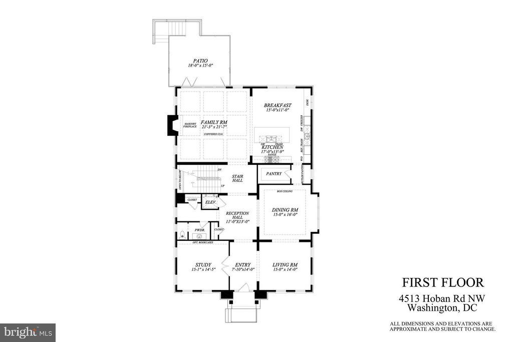 Main Level Plan - 4513 HOBAN RD NW, WASHINGTON