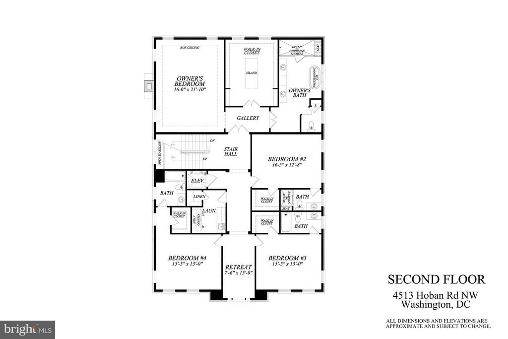 Upper Level Plan - 4513 HOBAN RD NW, WASHINGTON