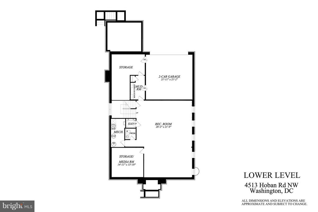 Lower Level Plan - 4513 HOBAN RD NW, WASHINGTON