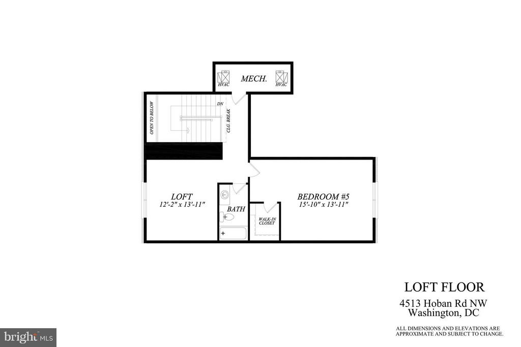 Attic Suite Plan - 4513 HOBAN RD NW, WASHINGTON