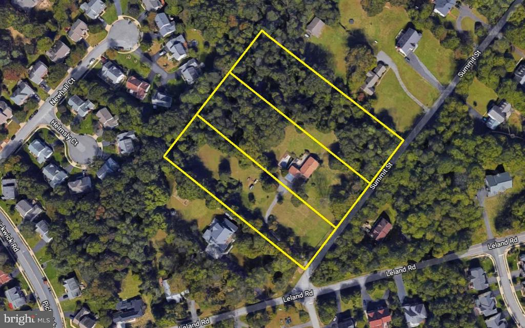 Approximate Lot Lines: 5, 6, 7 on Summit St - 5524 SUMMIT ST, CENTREVILLE