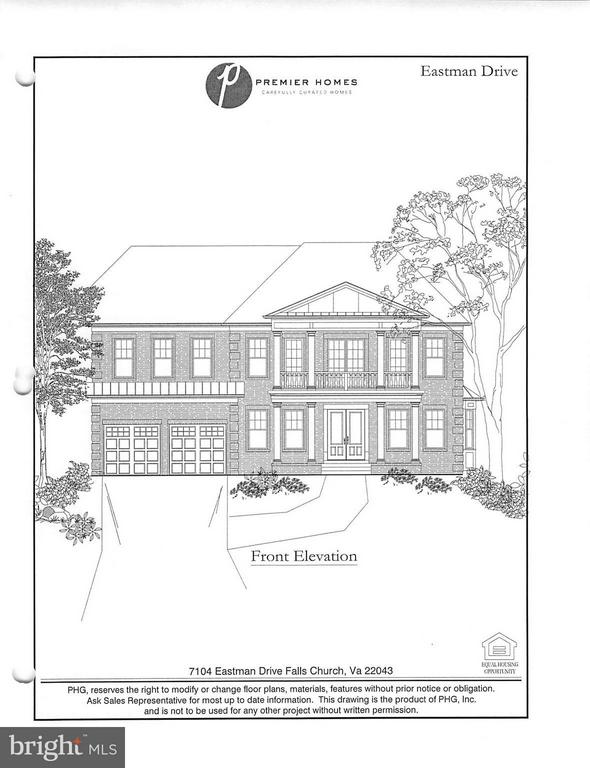 Elevation - 7104 EASTMAN DR, FALLS CHURCH