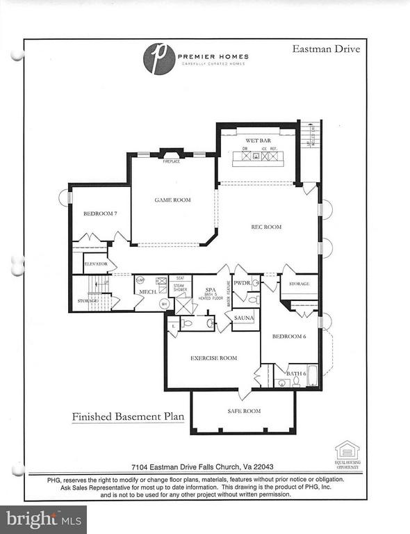 Lower level Floor Plan - 7104 EASTMAN DR, FALLS CHURCH
