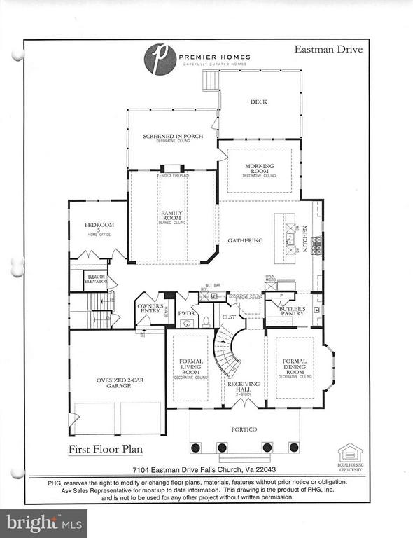 Main Level Floor PLan - 7104 EASTMAN DR, FALLS CHURCH