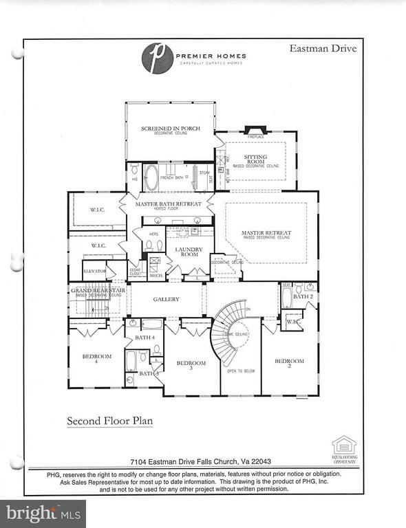 Upper Level Floor Plan - 7104 EASTMAN DR, FALLS CHURCH