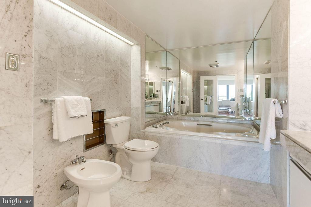 Soaking Tub w/ Italian marble surround - 1200 CRYSTAL DR #513, ARLINGTON