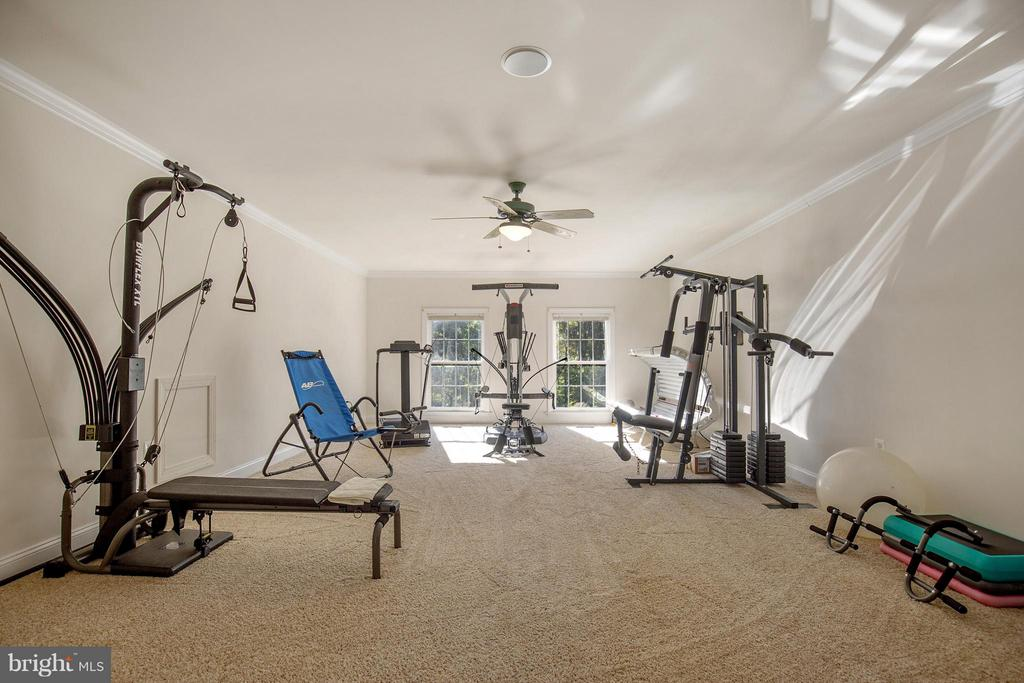 Owner's private gym. - 170 BALL RD, SAINT LEONARD