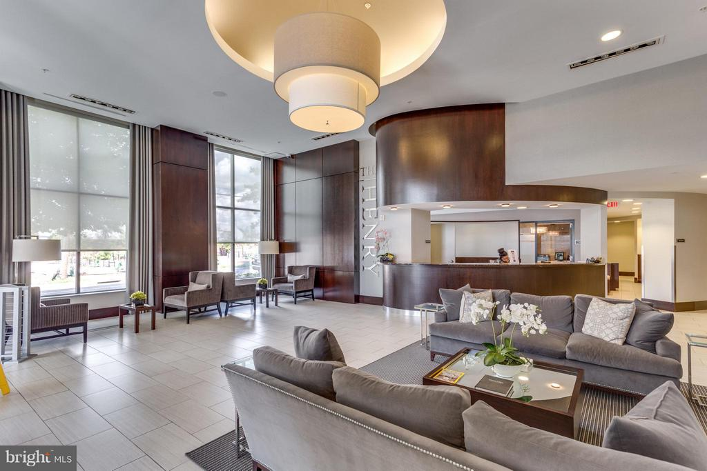 Main Lobby and Concierge at The Henry - 525 FAYETTE ST #507, ALEXANDRIA
