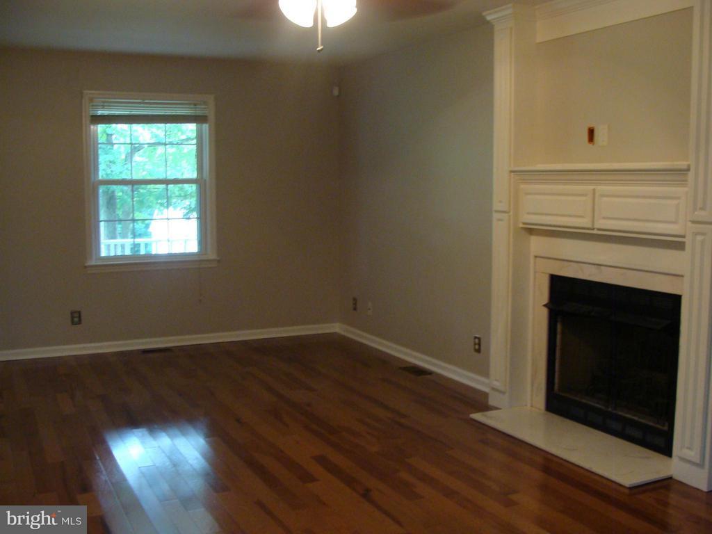 Living Room with wood floors and gas fireplace - 115 HAMLIN DR, FREDERICKSBURG