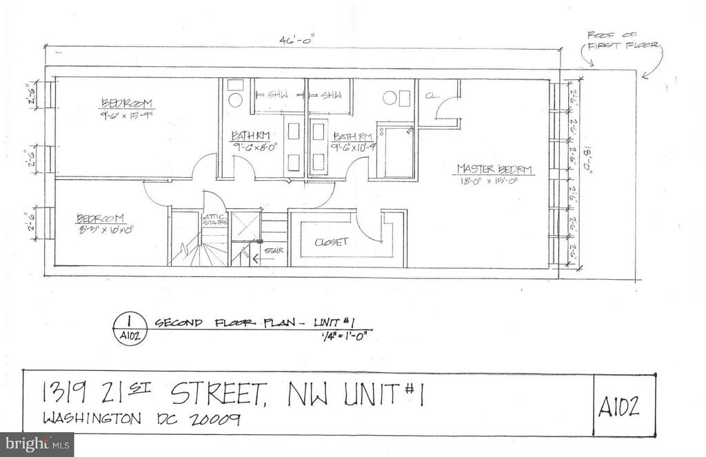 2nd Floor Layout - 1319 21ST ST NW, WASHINGTON