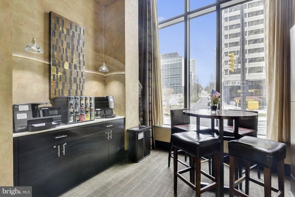Coffee area in Lobby Lounge - 1111 19TH ST N #1603, ARLINGTON