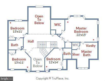 Upper Level Floor Plan - 18503 PELICANS NEST WAY, LEESBURG