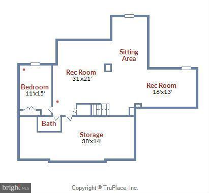 Lower Level Floor Plan - 18503 PELICANS NEST WAY, LEESBURG