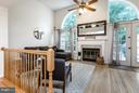 Bright Living Room w/ Fireplace - 14110 GALLOP TER, GERMANTOWN