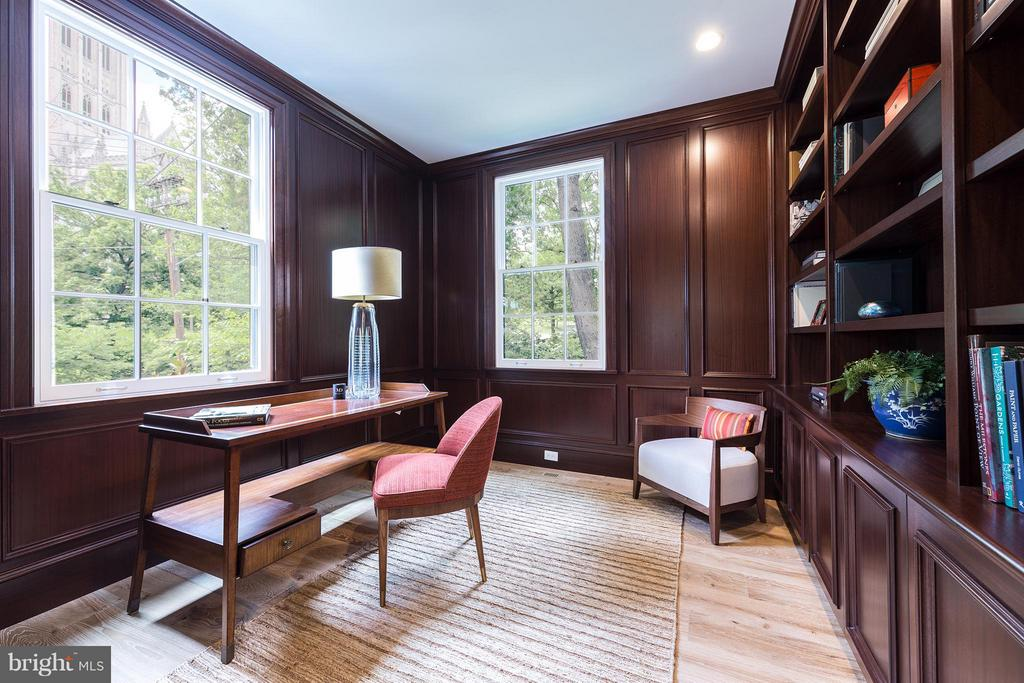 Library/Office with Views of National Cathedral - 3515 WOODLEY RD NW, WASHINGTON