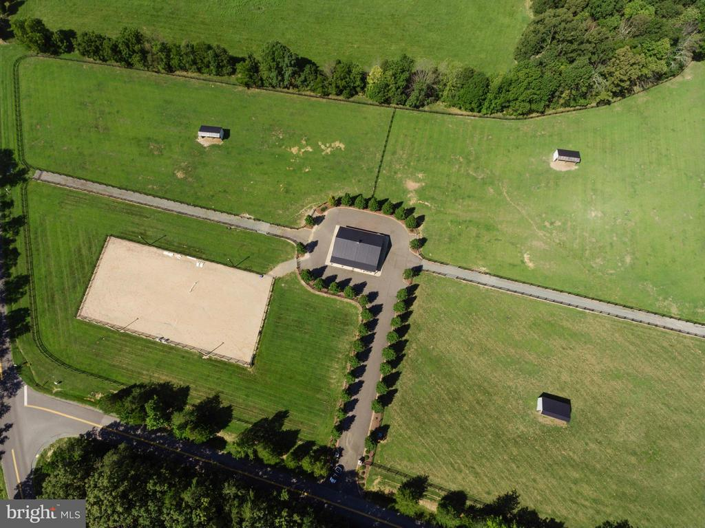 Aerial View Riding Rink-Paddocks - 550 MOUNT OLIVE RD, FREDERICKSBURG