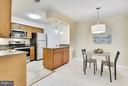 Dining Room has NEW Chandelier! - 10208B ASHBROOKE CT #18, OAKTON