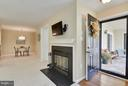 Foyer has hardwoods to protect the carpet - 10208B ASHBROOKE CT #18, OAKTON