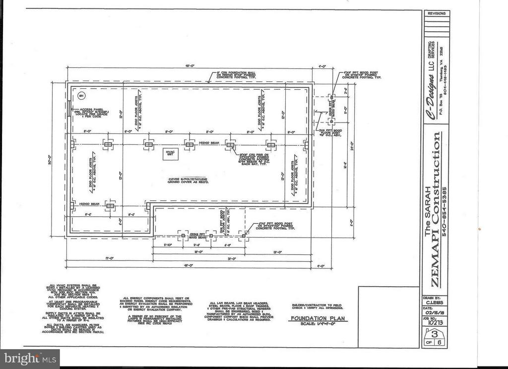 Foundation plan - 26097 INDIAN TRACE TRL, UNIONVILLE