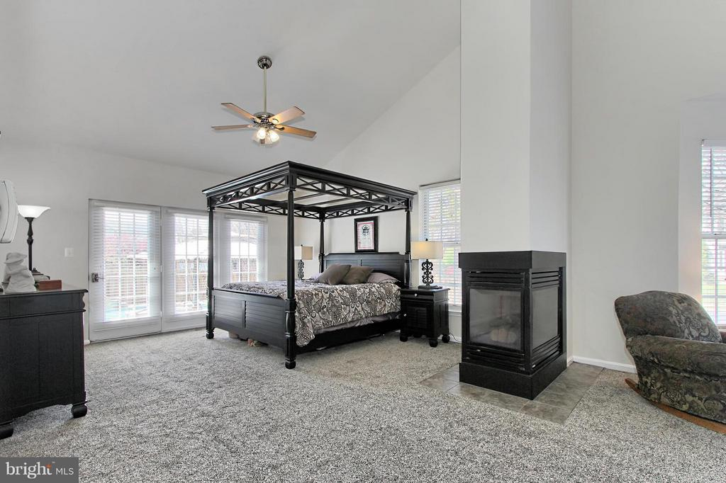 Main Level Owner's Suite w. Gas FP and Sittng Room - 9381 WORTHINGTON DR, BRISTOW