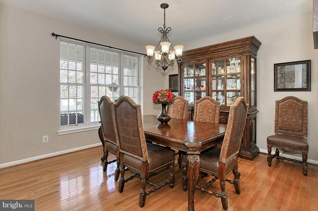 Dining Room with New Hardwood Floors - 9381 WORTHINGTON DR, BRISTOW