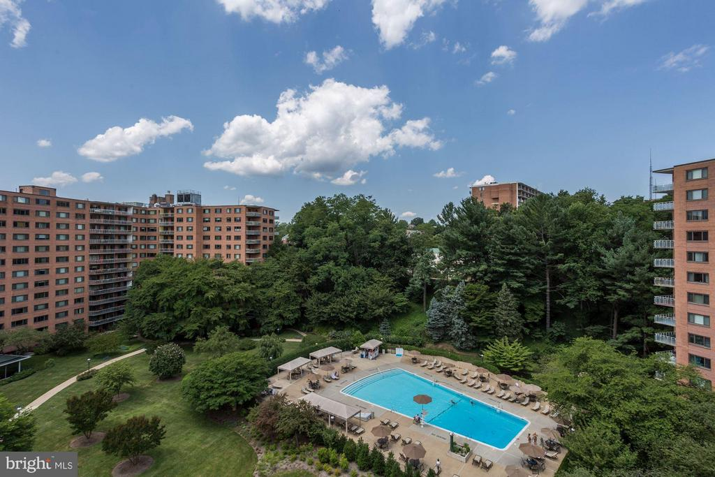 View of Pool - 4201 CATHEDRAL AVE NW #603E, WASHINGTON