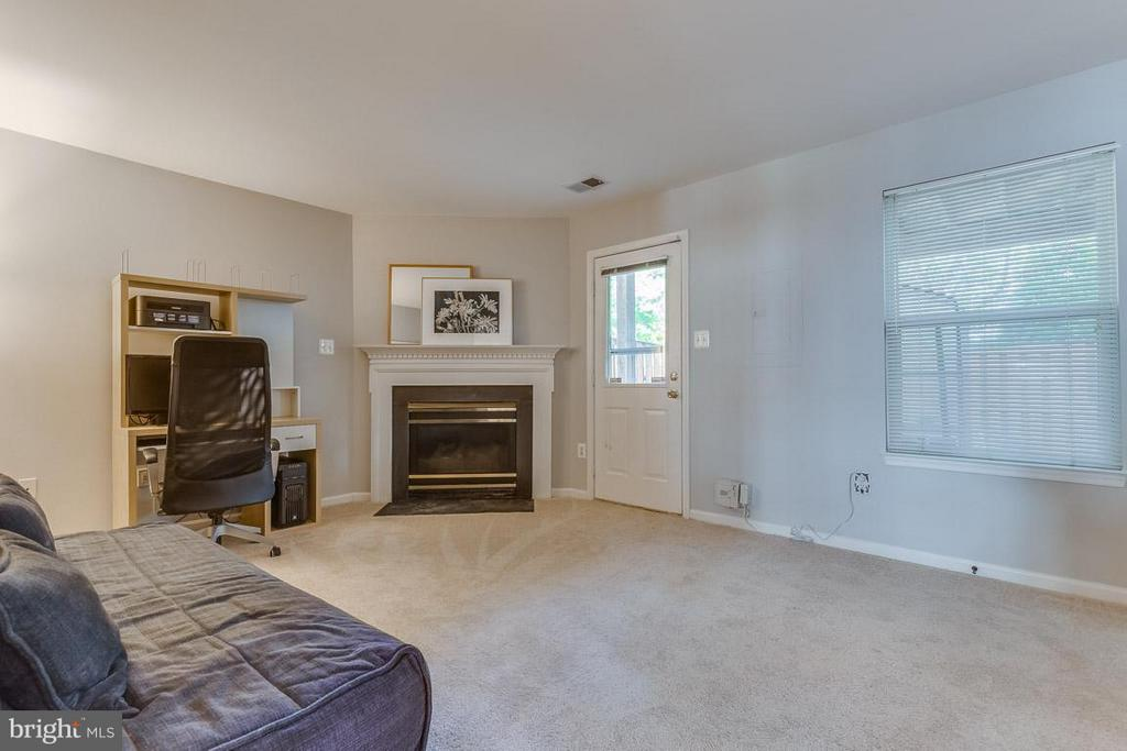 Recreation room with gas fireplace and walk out - 14817 EDMAN RD, CENTREVILLE