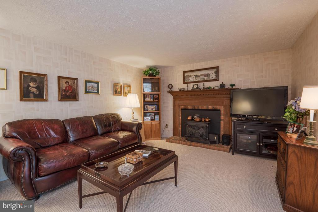 Family Room w/ Gas Insert Fireplace - 1015 ISABELLA DR, STAFFORD