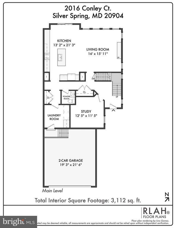 Main Level Floor Plan - 2020 CONLEY CT, SILVER SPRING