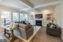 Great room with gas fireplace and abundant light - 2020 CONLEY CT, SILVER SPRING